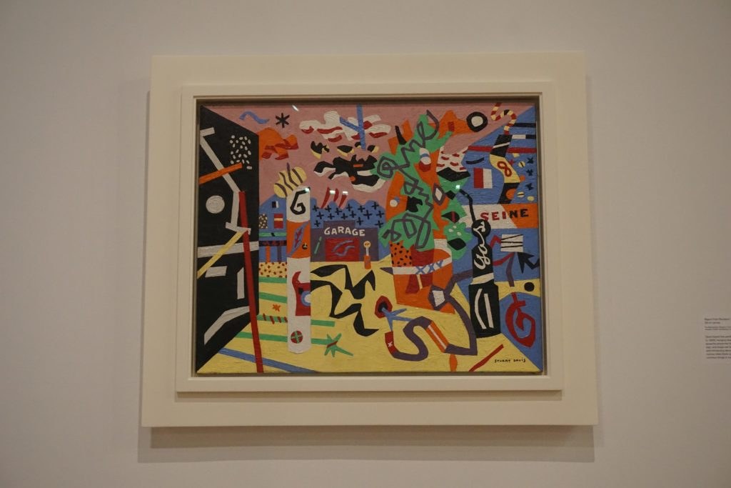 The exhibition of Stuart Davis is impressive!