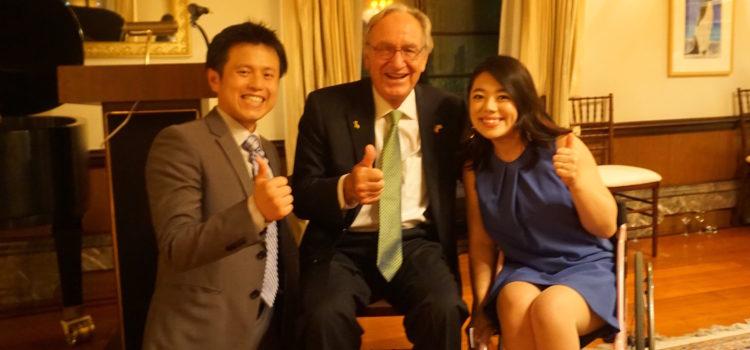 アメリカ大使館公邸にてトーマス・ハーキン元上院議員にお会いしました